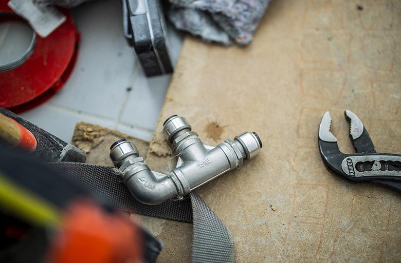 Reparation af vandrør